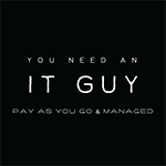 You Need An IT Guy Logo