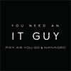 You Need An IT Guy Sticky Logo